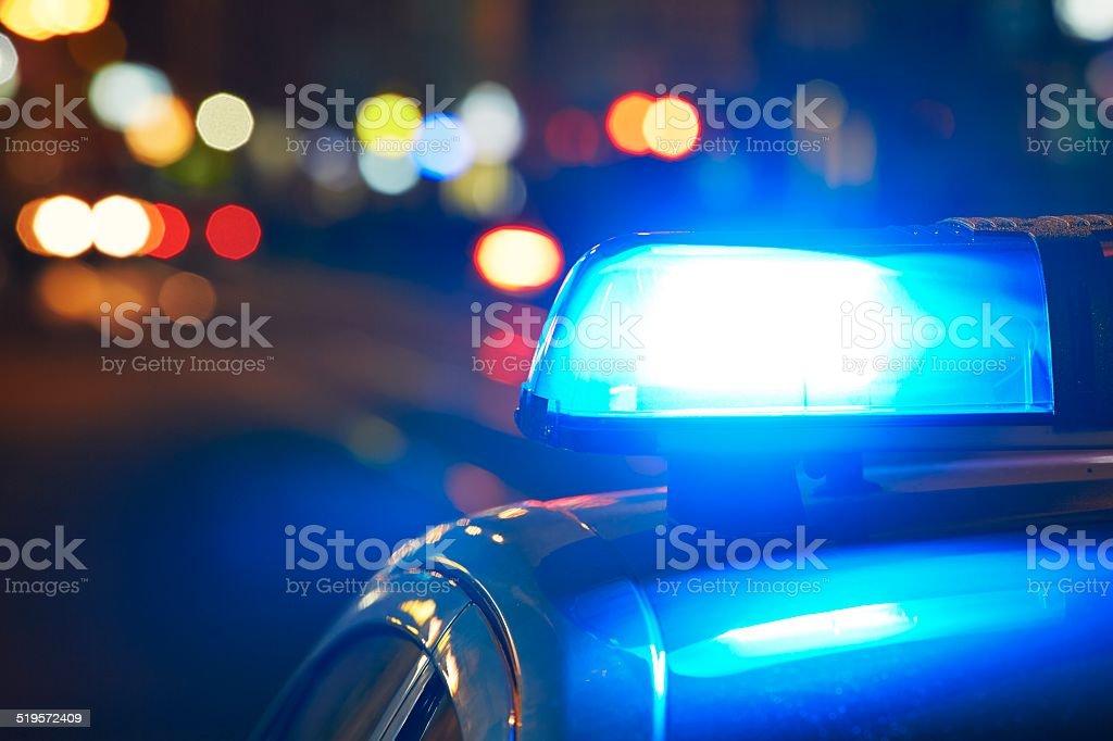 Coche de policía - foto de stock