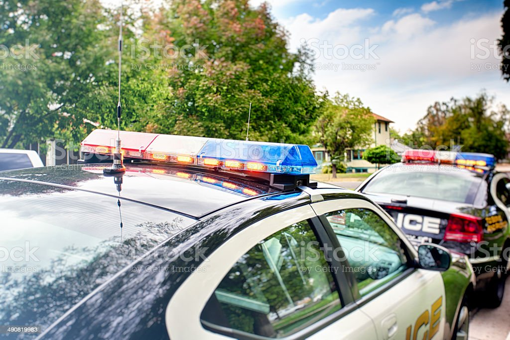 Police Cars HDR stock photo