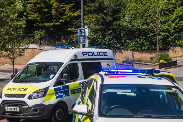 Police Cars in London stock photo