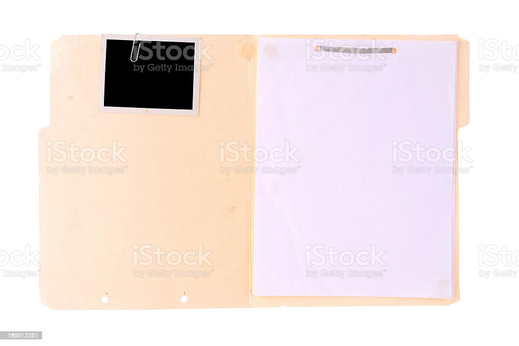Police Case File stock photo