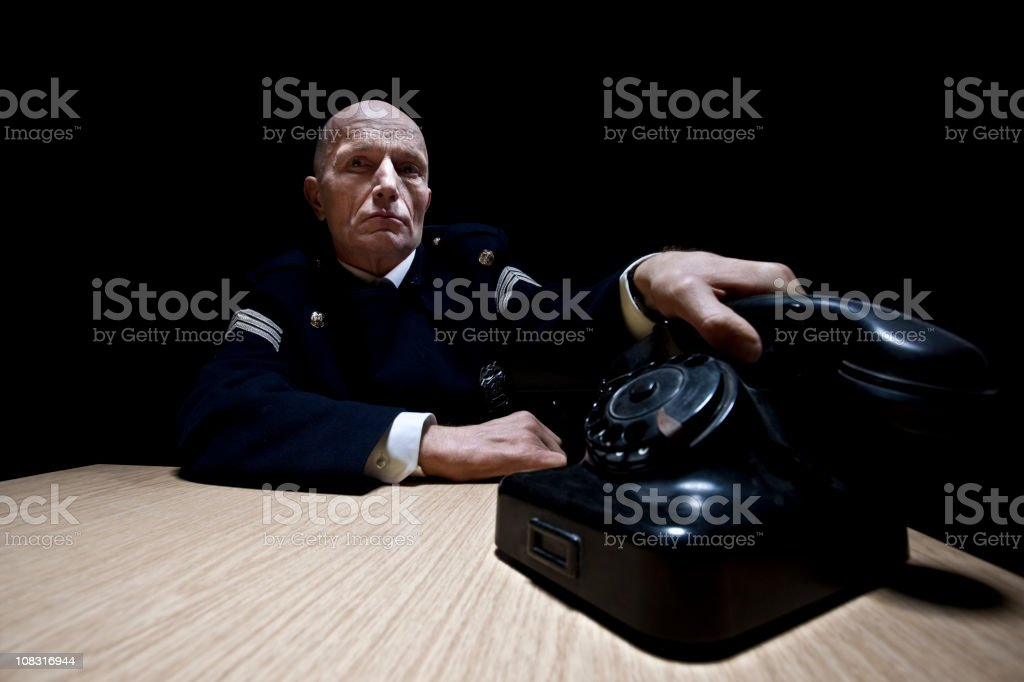 Police chief stock photo