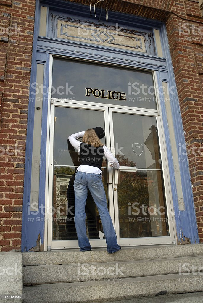 Police Closed royalty-free stock photo