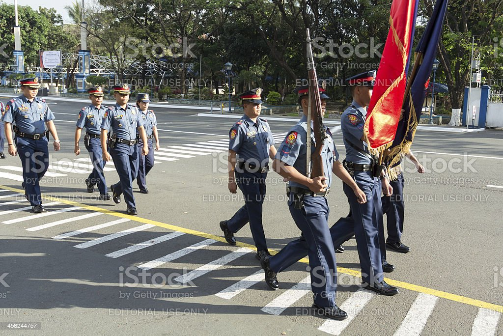 Police color officers stock photo