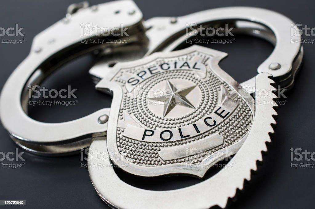Fotografía De Concepto De Policía Placa De Policía Y