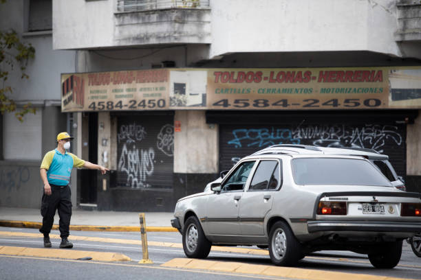 Polizeikontrolle in Buenos Aires unter Quarantäne – Foto
