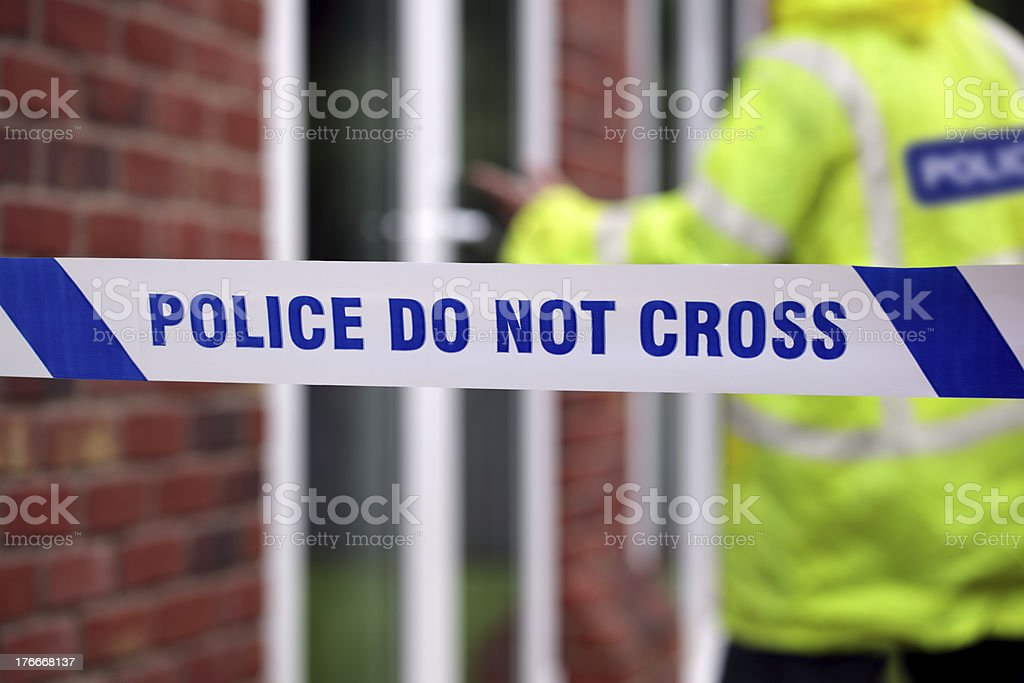 Police crime scene royalty-free stock photo