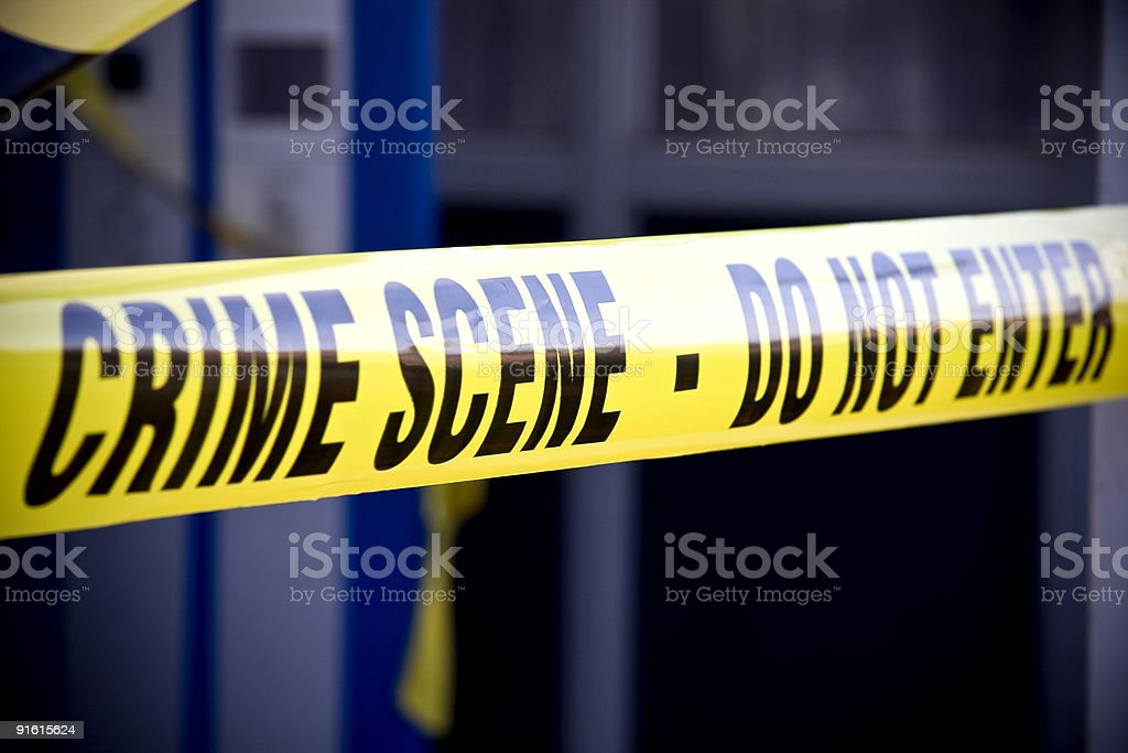 Police crime scene stock photo