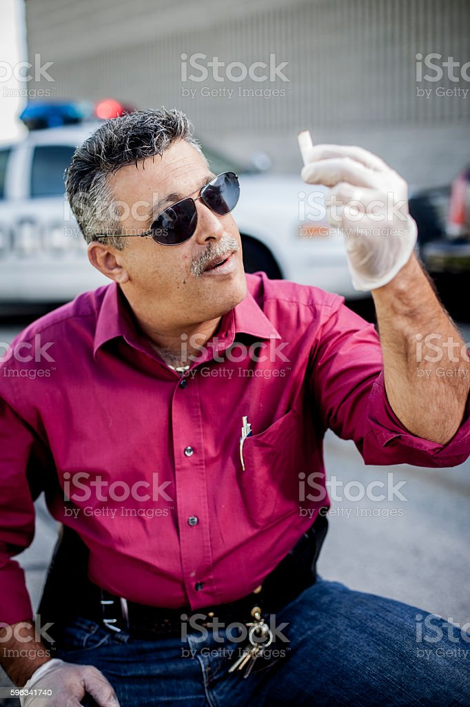 Police Detective at Crime Scene royalty-free stock photo