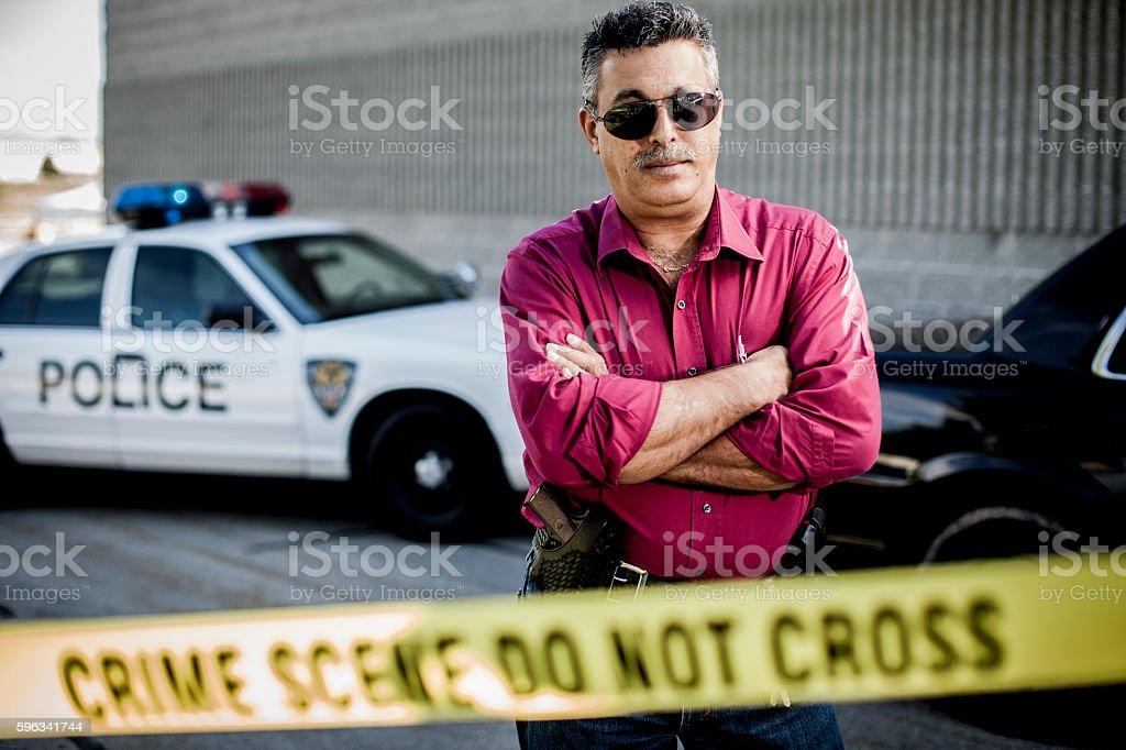 Police Detective at Crime Scene Lizenzfreies stock-foto