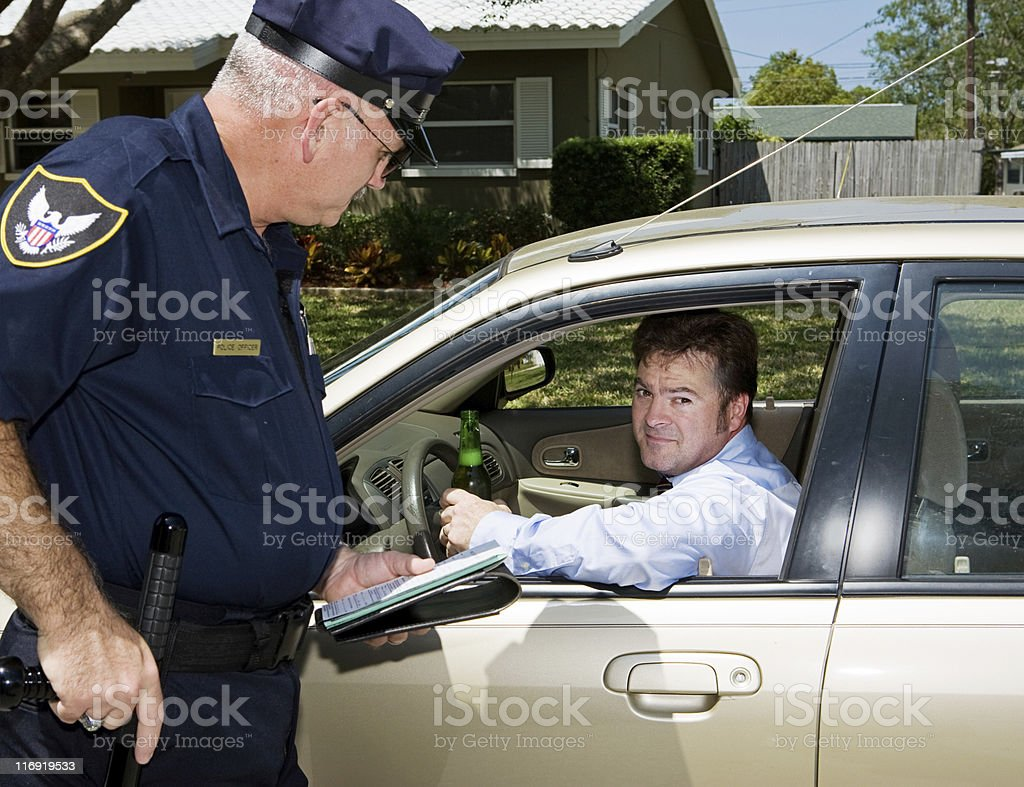 Police - Drunk Driver Guilty royalty-free stock photo