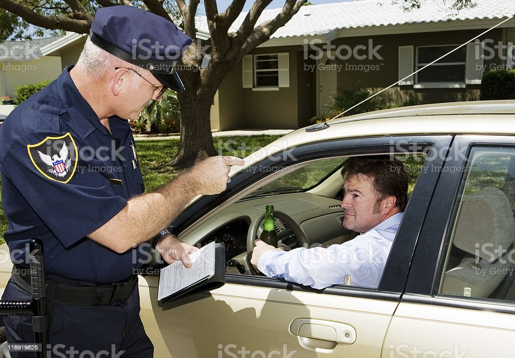 Police - Drunk Driving royalty-free stock photo