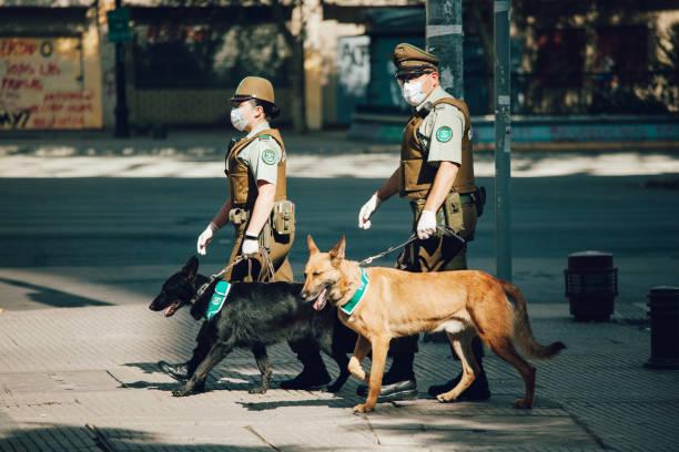 Polizei während der Quarantäne – Foto