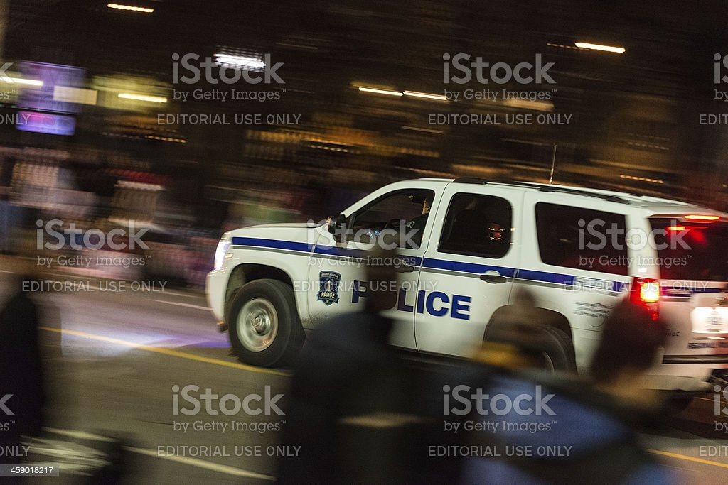 Police en Route royalty-free stock photo