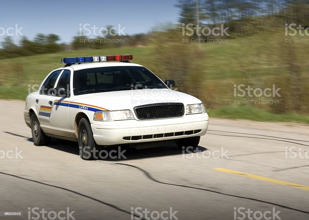 Police en Route stock photo