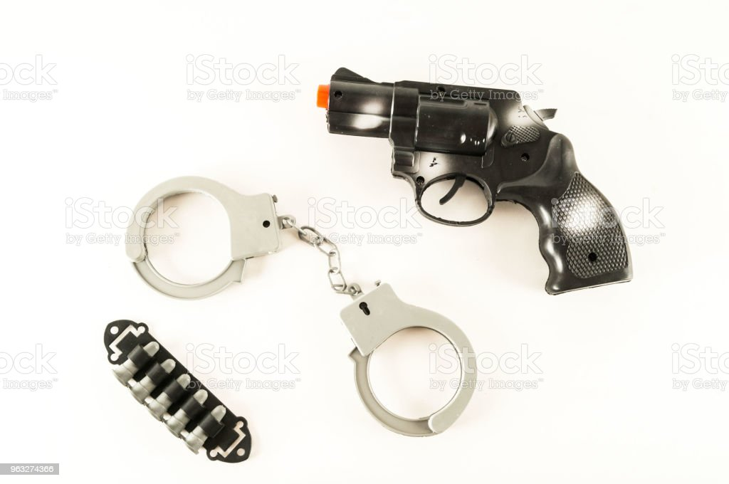 Police equipment toy stock photo
