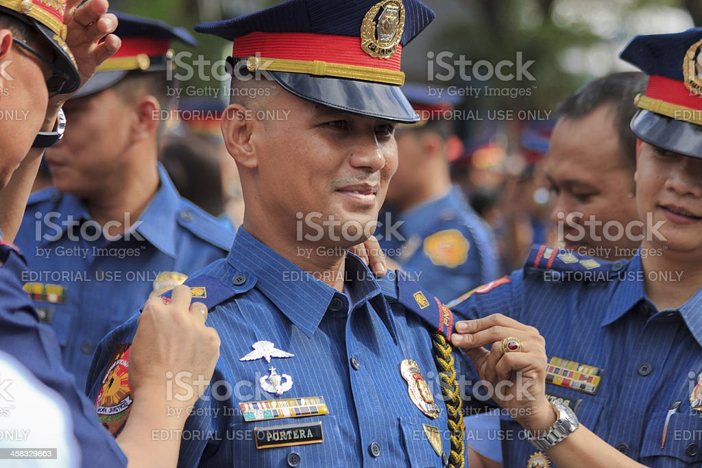Police force recruitment stock photo