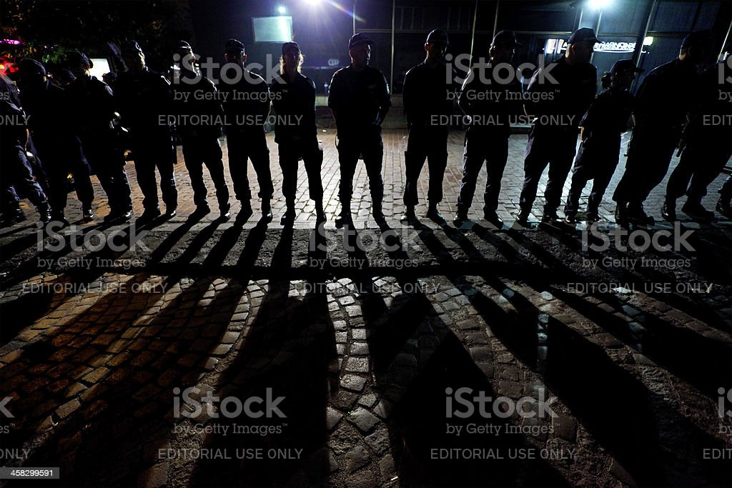 Police forcess royalty-free stock photo