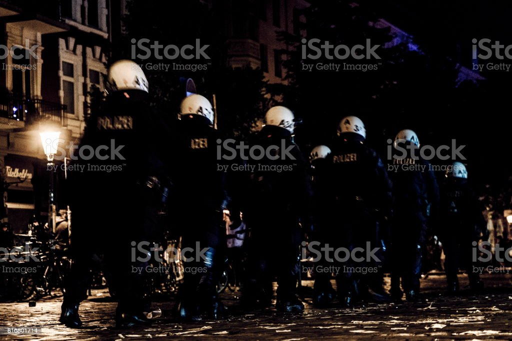 Police getting ready for G20 stock photo