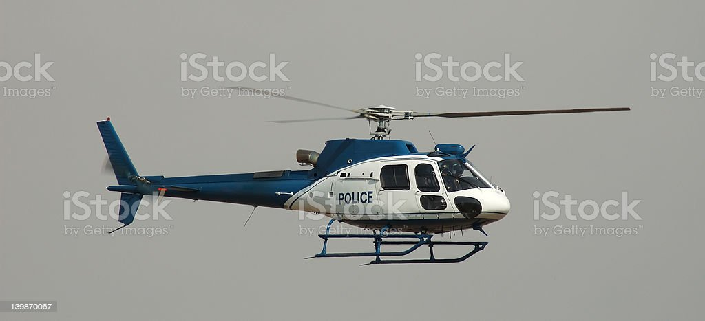 Police Helicopter royalty-free stock photo