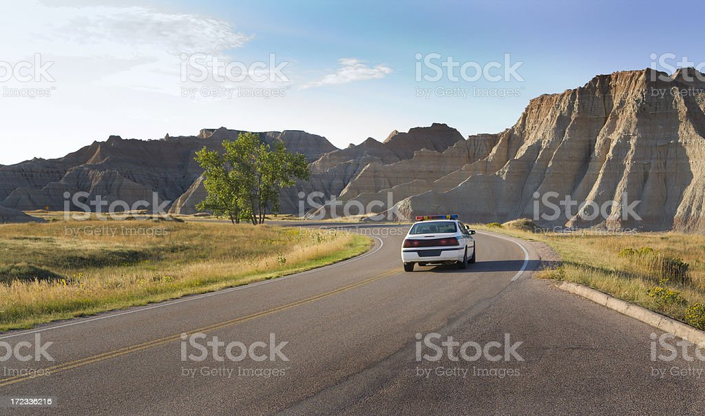 Police Highway Patrol royalty-free stock photo