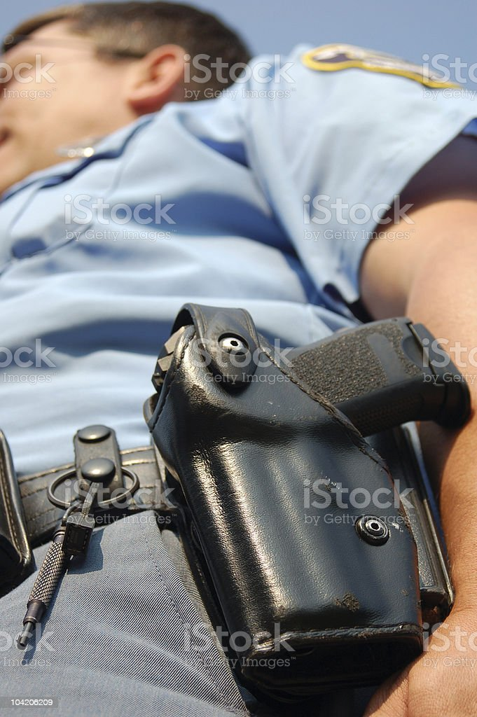 Police holster royalty-free stock photo