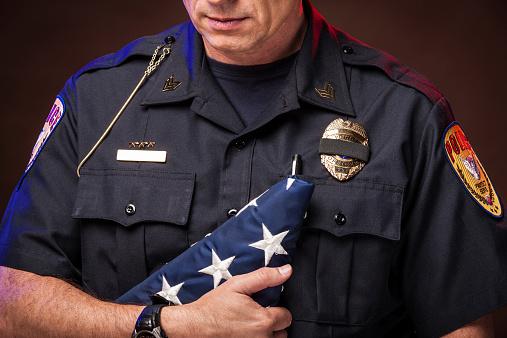 Police Honoring a Slain Officer