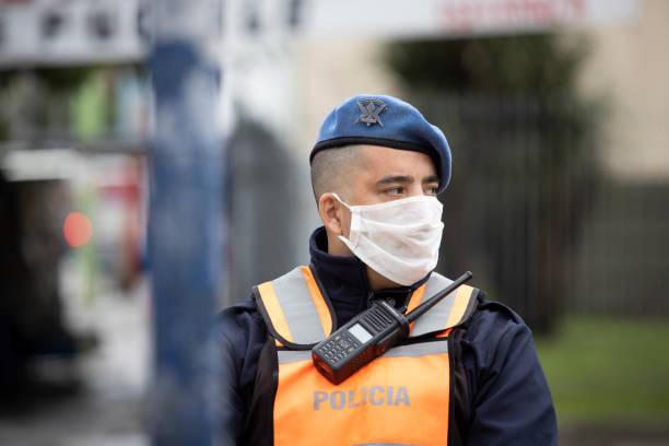 Polizei in Buenos Aires während der Quarantäne – Foto