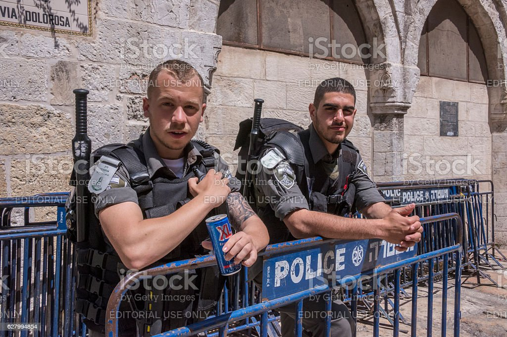 Police in Jerusalem - foto de stock