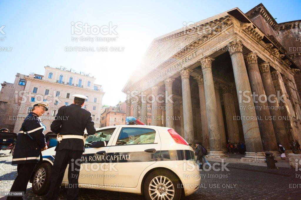 Police in Rome stock photo