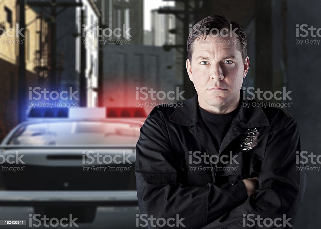 Police in Urban Scene stock photo