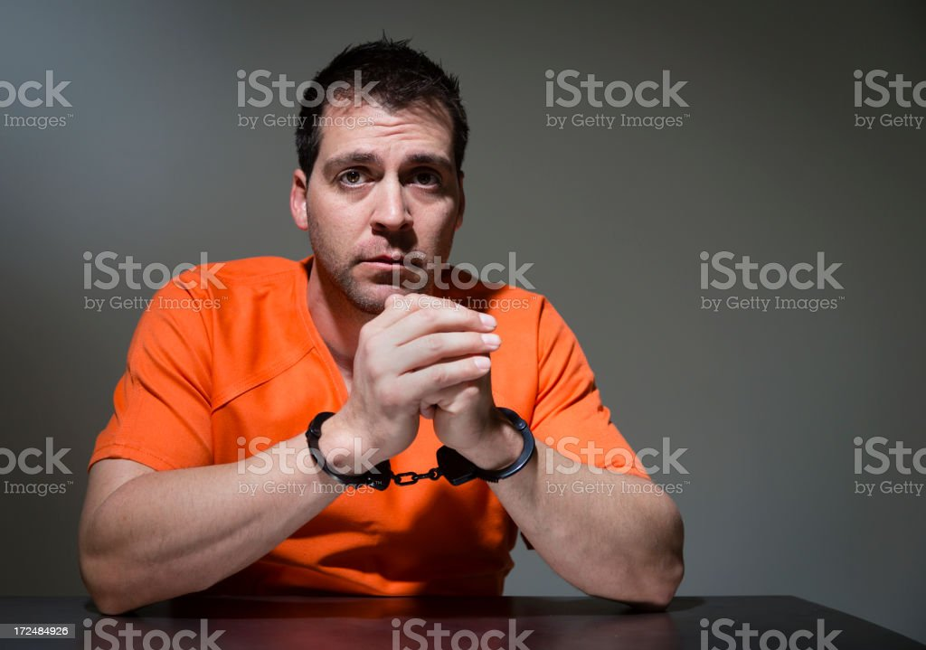 Police Interrogation Room stock photo