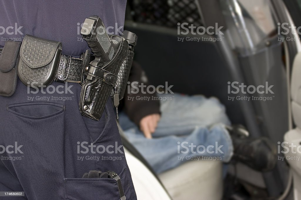 Police Interview royalty-free stock photo