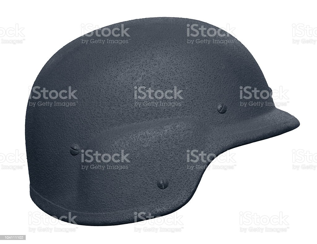 US Police Kevlar Helmet stock photo