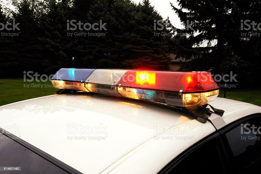 Police Light Bar stock photo