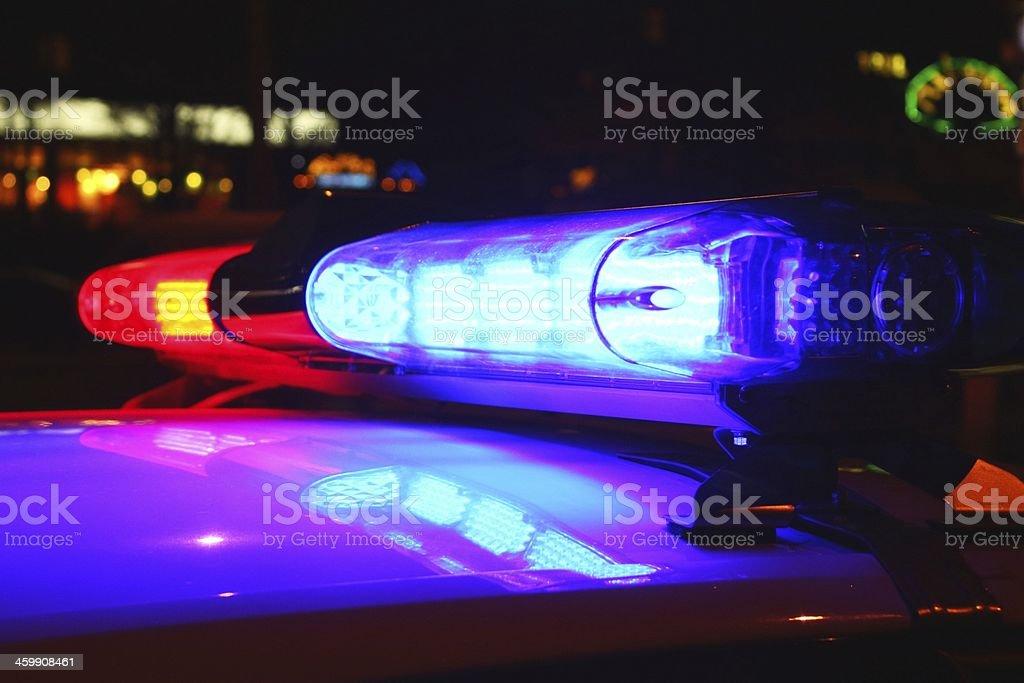 Polizei Lichter bei Nacht – Foto