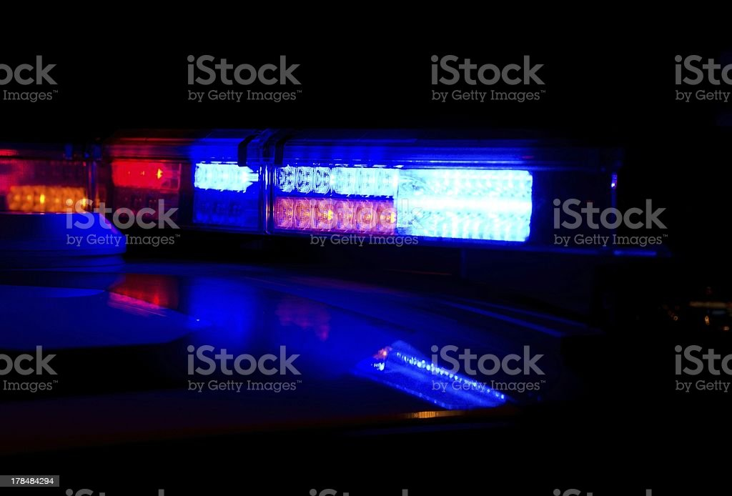 Police lights stock photo