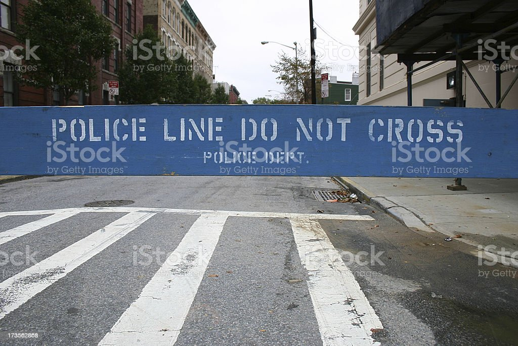 Police Line - Do Not Cross! royalty-free stock photo