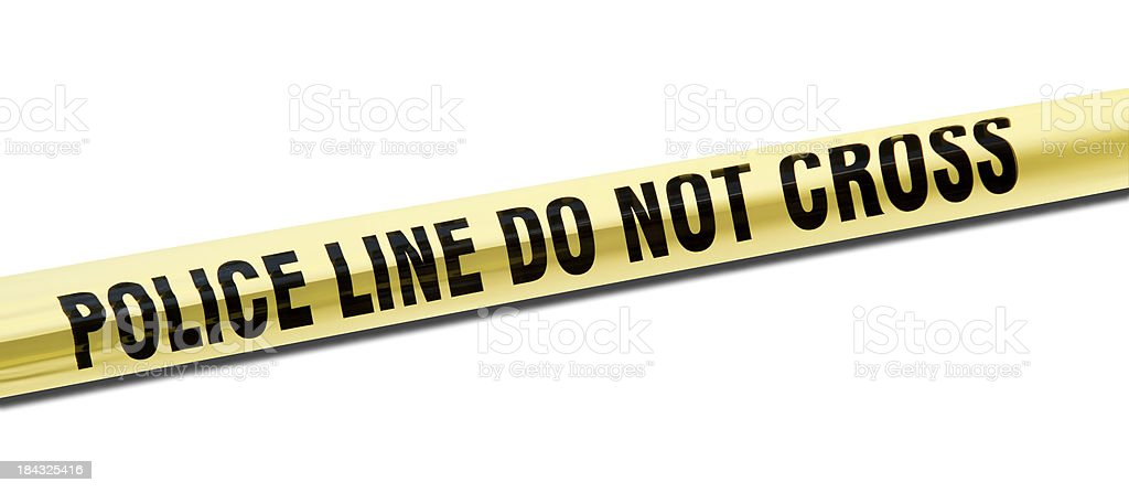 police line do not cross stock photo