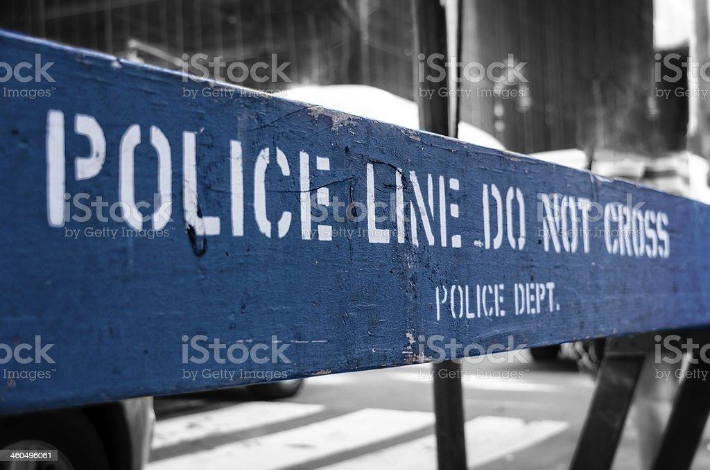 Police Line - Do Not Cross stock photo