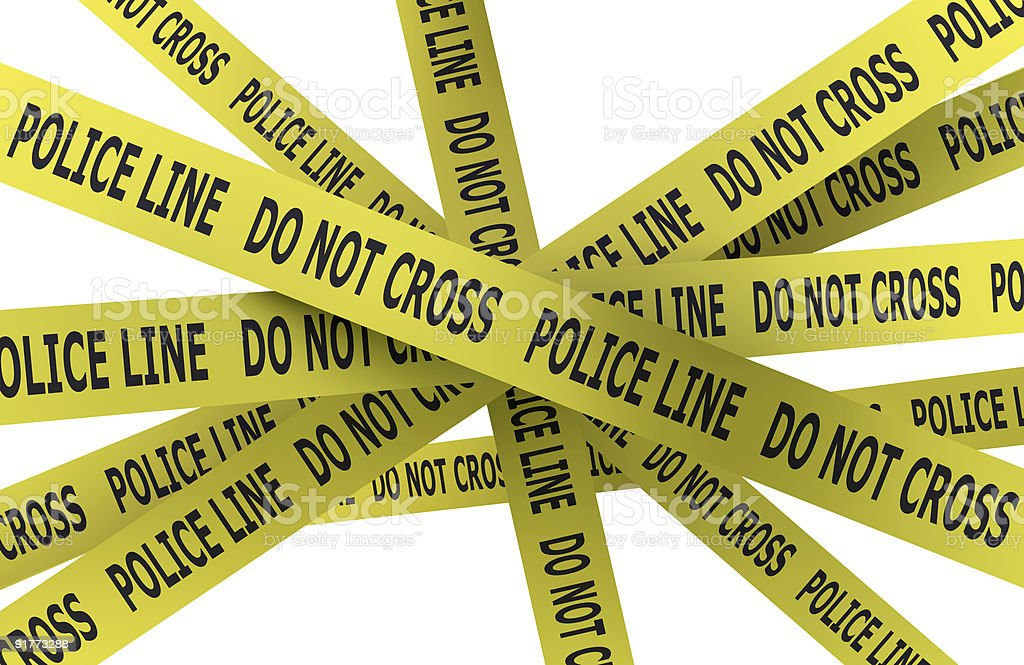 Police line: do not cross! royalty-free stock photo