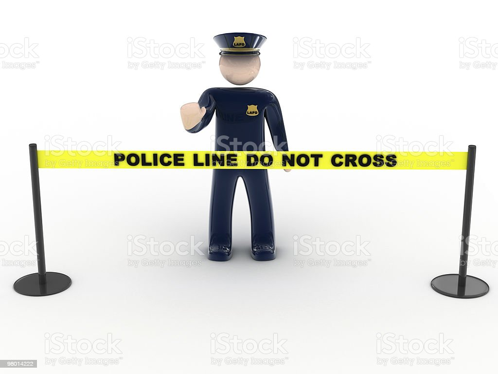 Police Line Do Not Cross royalty-free stock photo