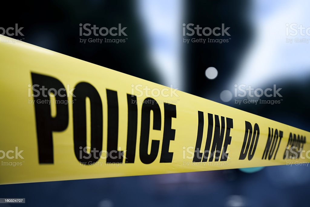 Police line royalty-free stock photo