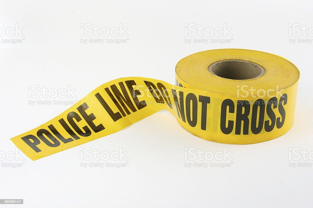 警察ラインテープ - カラー画像のロイヤリティフリーストックフォト