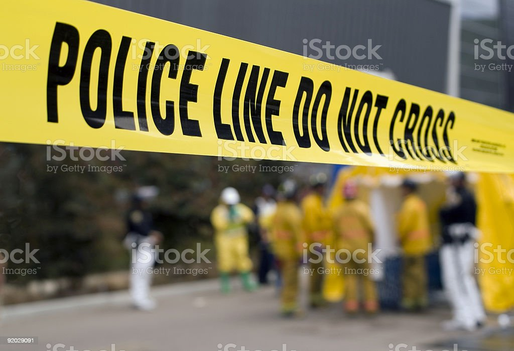 Police Line-HazMat stock photo