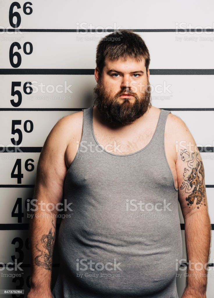 Police Line-up Mugshot stock photo