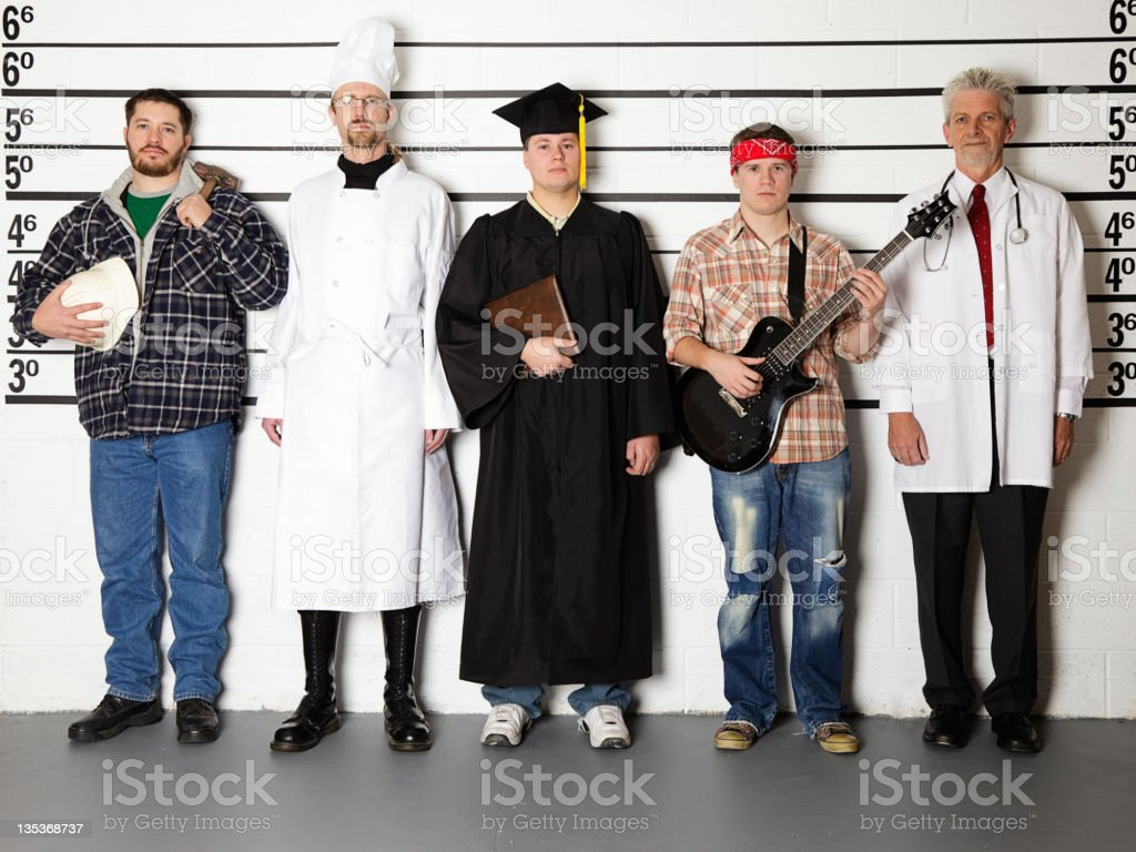 Police Line-Up royalty-free stock photo