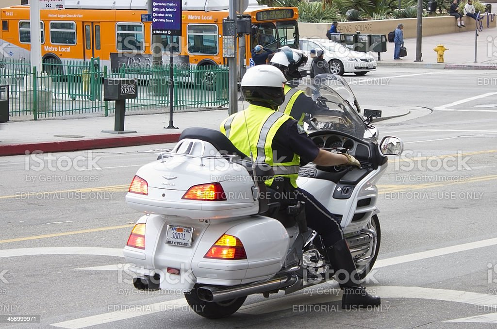 Police Morocycle royalty-free stock photo