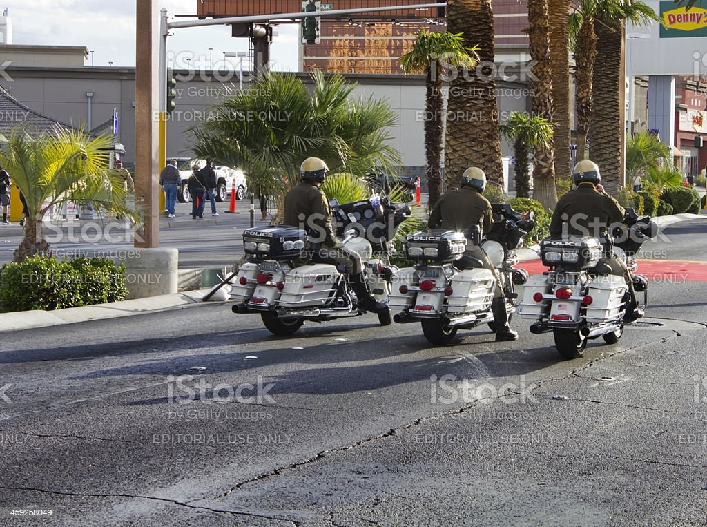 Police Motorcycles royalty-free stock photo