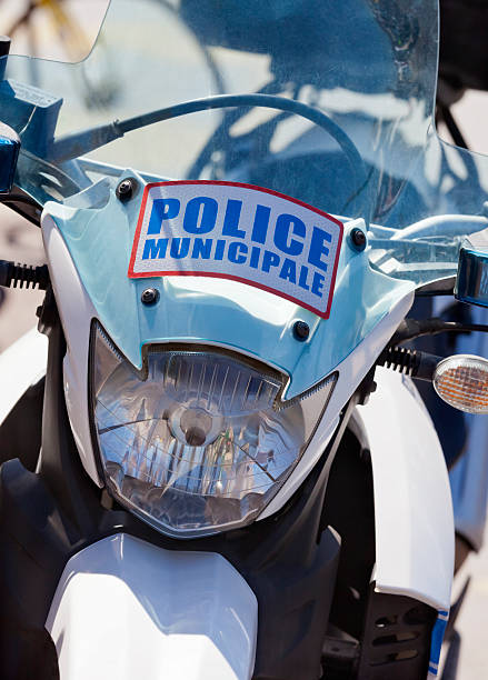 Police Municipale Motorbike stock photo