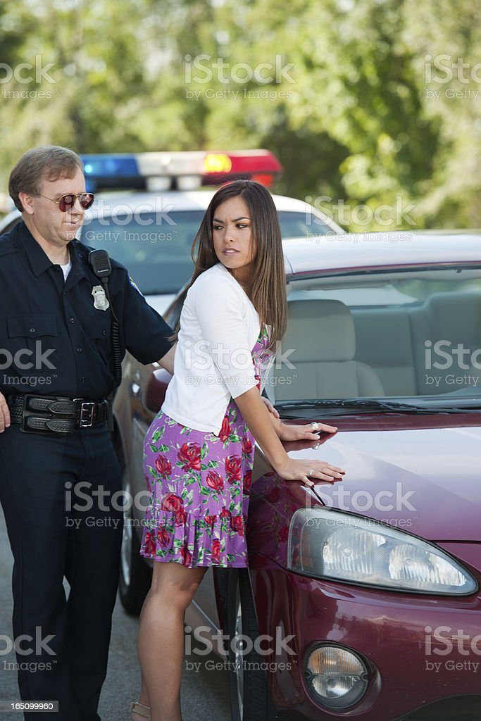 Ufficiale di polizia Driver femminile e stiloso - foto stock